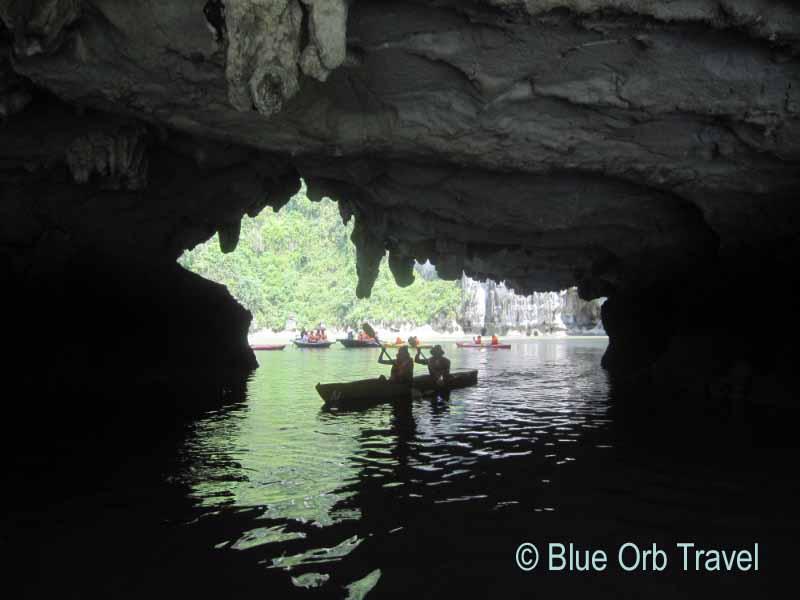 Kayaks on Halong Bay
