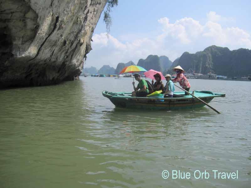 Bamboo Boat on Halong Bay