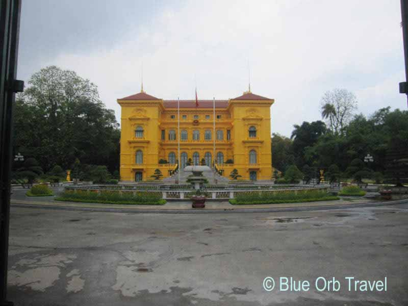 The Presidential Palace of Vietnam in Hanoi