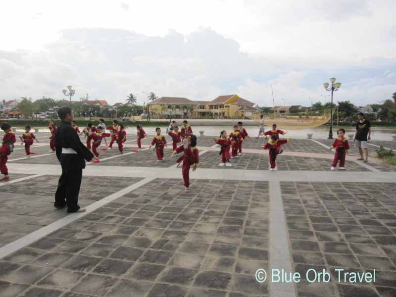 Children Practicing Martial Arts, Hoi An, Vietnam