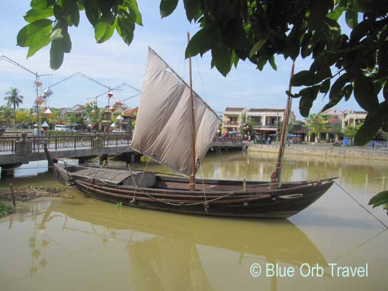 Boat on the Thu Bon River, Hoi An, Vietnam