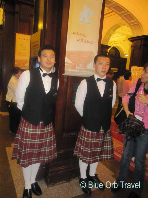 Doormen in Kilts at the Astor House Hotel