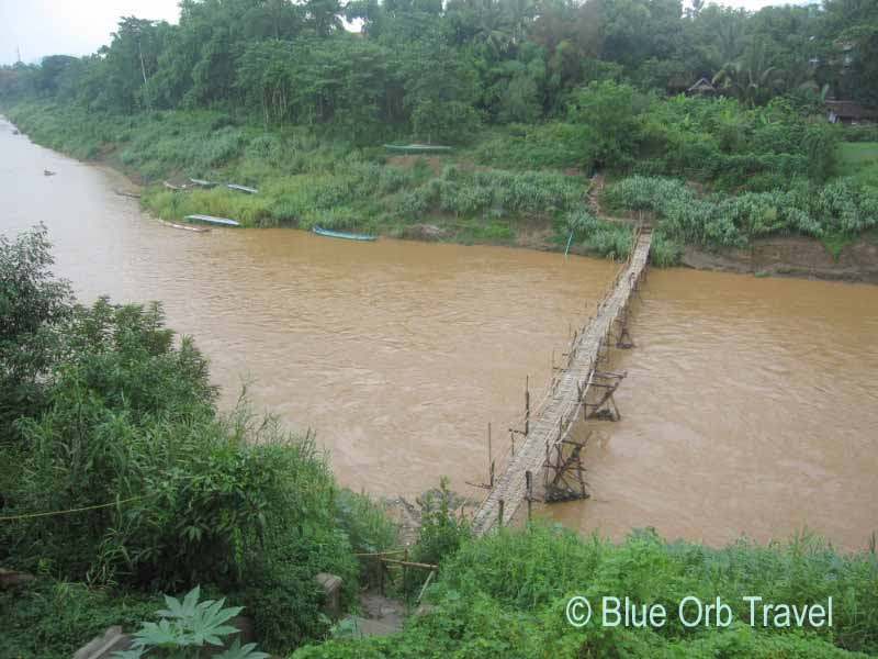 Wooden Bridge Over the Nam Khan River