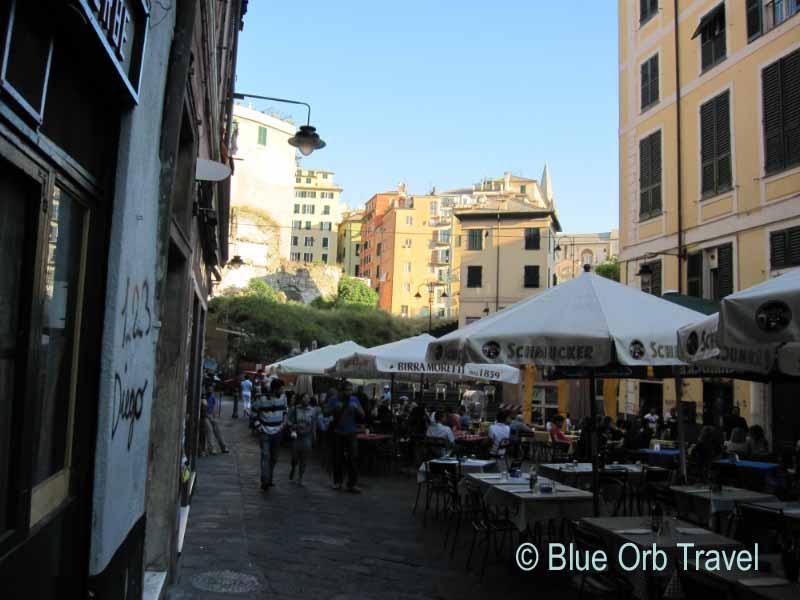 Sidewalk Cafe, Genoa, Italy
