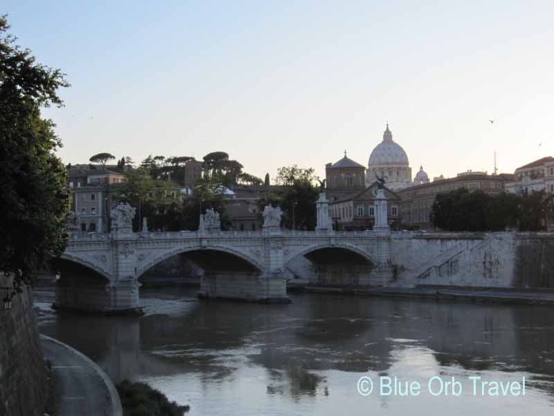 St. Peter's Basilica Across the Tiber River