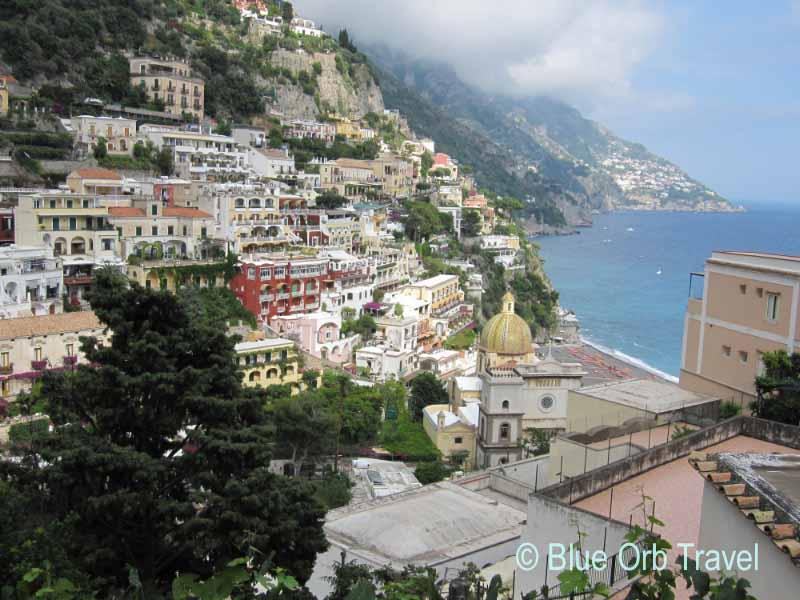 Seaside Village of Positano on the Amalfi Coast of Italy