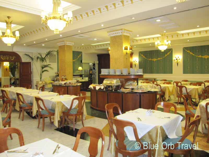 Breakfast in the Elegant Dining Room of the Hotel Europa