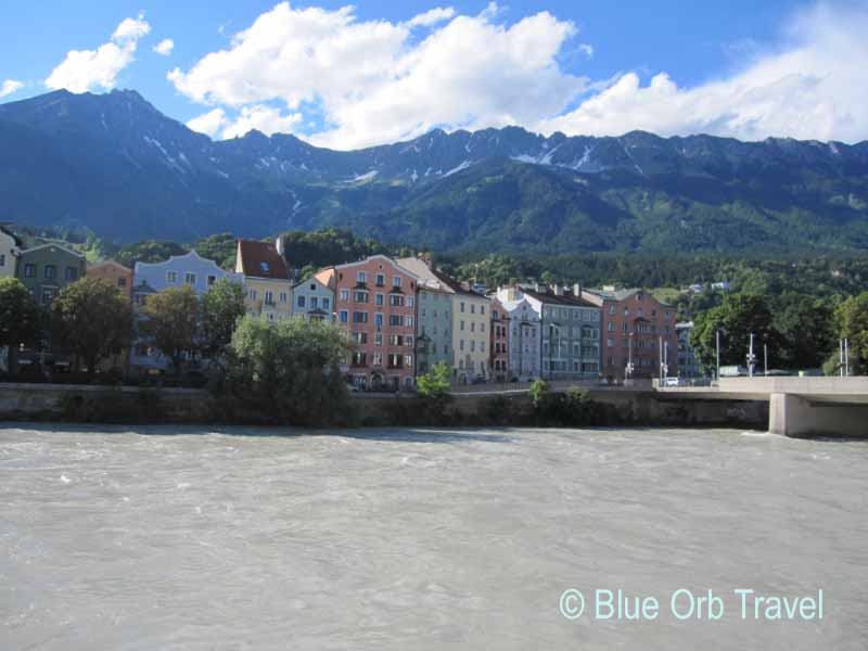 Tyrolean Alps Surrounding Innsbruck on the Inn River