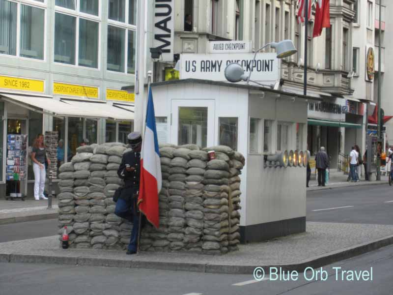 Check Point Charlie at the Berlin Wall
