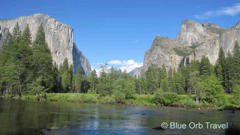 Yosemite National Park with El Capitan and Bridal Veil Falls