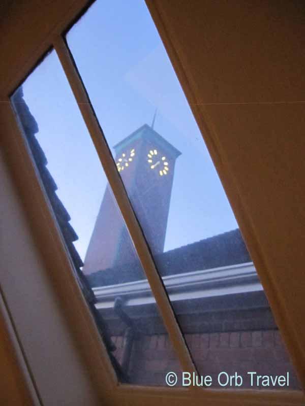 Clock Tower Through the Skylight