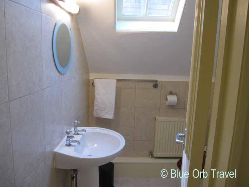 Shiny New Bathroom at the Bellstone Hotel, Shrewsbury, England