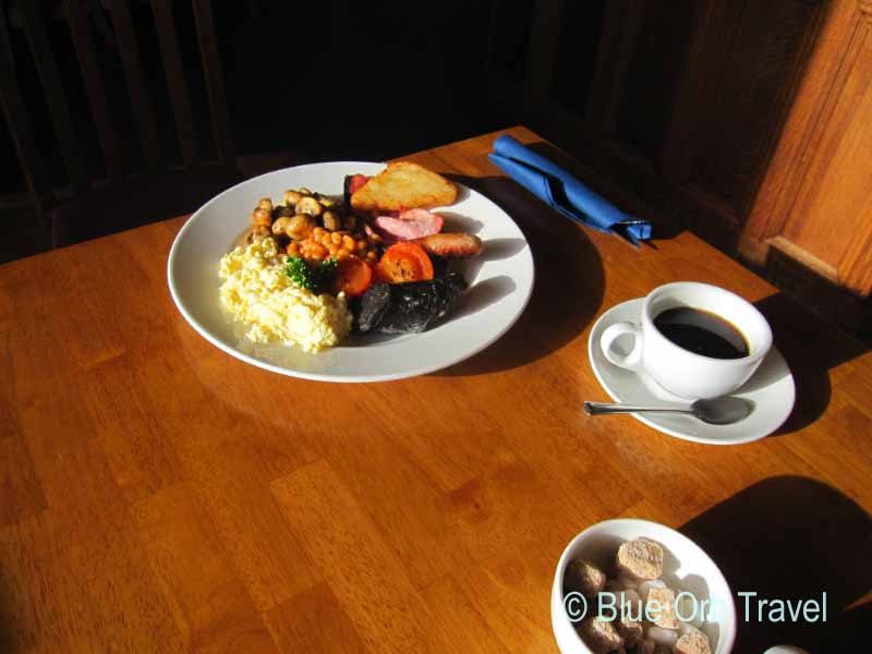 Full Shropshire Breakfast at the Bellstone Hotel, Shrewsbury, England