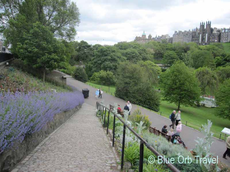 The Princes Street Gardens, Edinburgh, Scotland