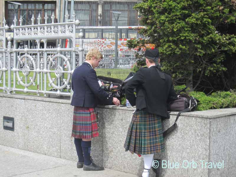 Pipers in Edinburgh, Scotland
