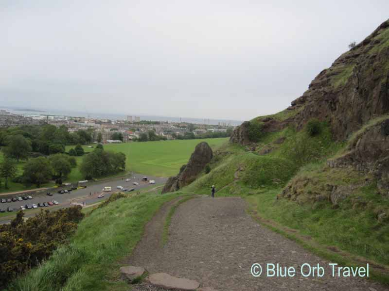 Hiking the Salisbury Crags, Edinburgh, Scotland