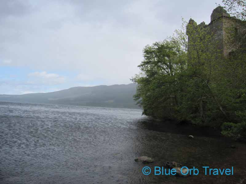 Site of Loch Ness Monster Sighting Below Urquhart Castle