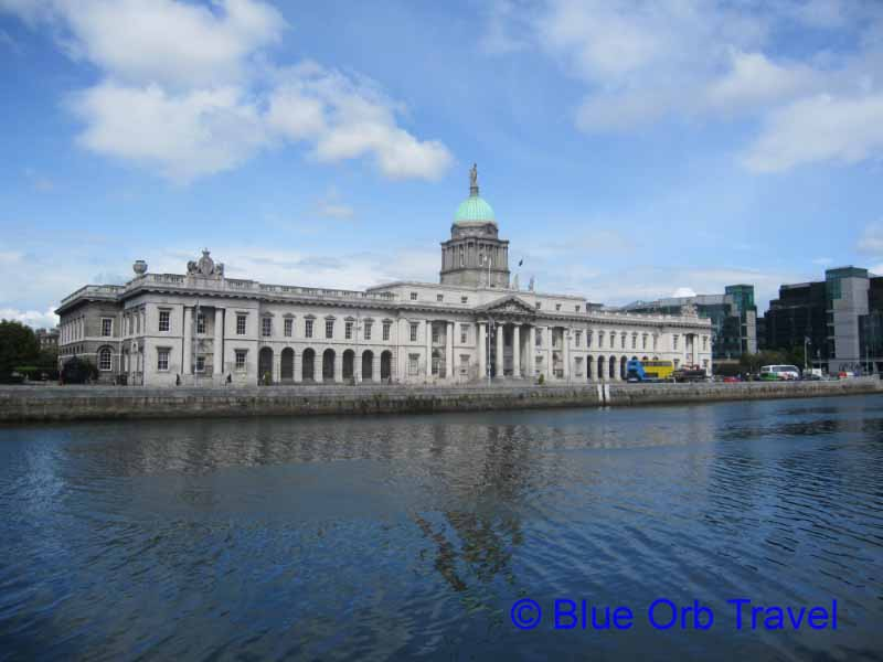 The Custom House Across the River Liffey, Dublin
