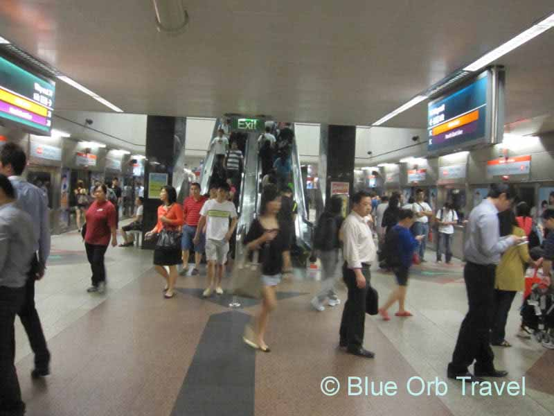 The MRT, Mass Rapid Transit, Singapore