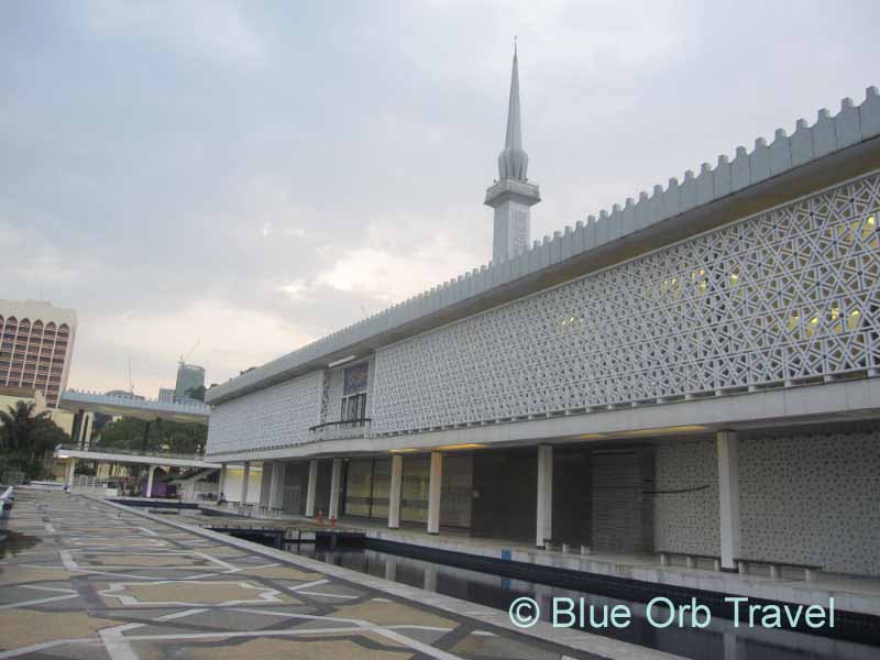 Minaret and Reflecting Pools at National Mosque, Kuala Lumpur