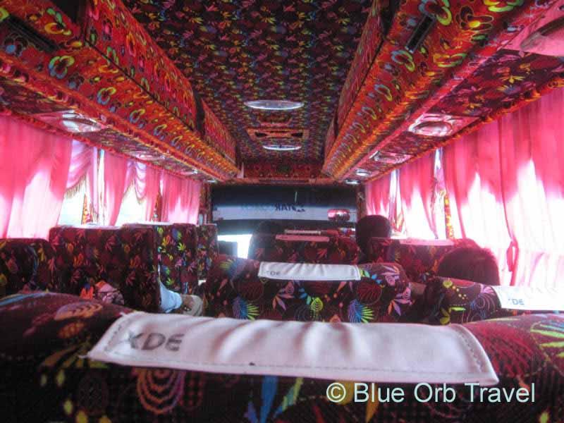 Inside Bus from Kuala Lumpur to Georgetown, Malaysia