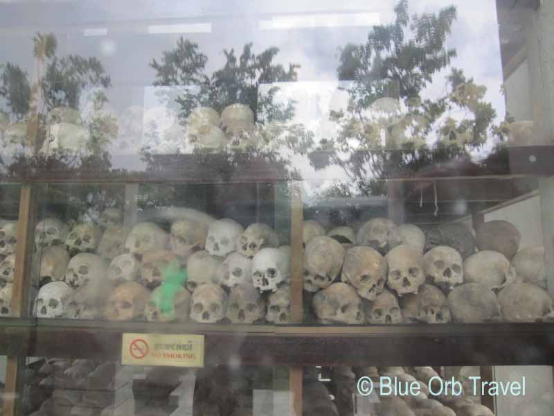 Skulls in Stupa at Choeung Ek