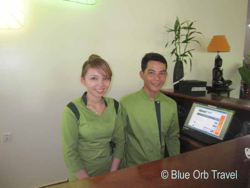 Friendly Staff at the Siem Reap Evergreen Hotel