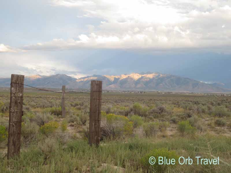 Elko County Ranchlands with Ruby Mountains in Background
