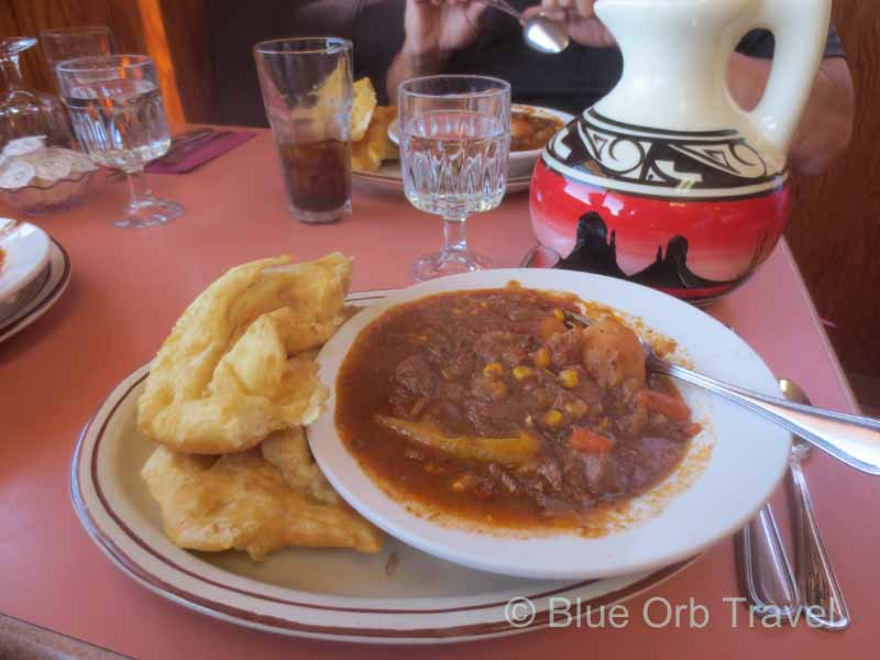 Navajo Fry Bread and Stew at Goulding's Restaurant