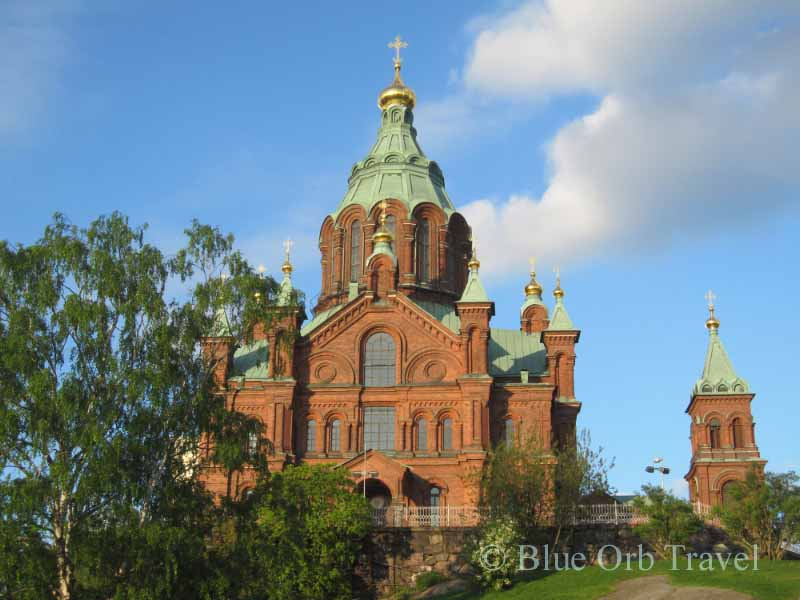 The Finnish Orthodox Uspensky Cathedral in Helsinki