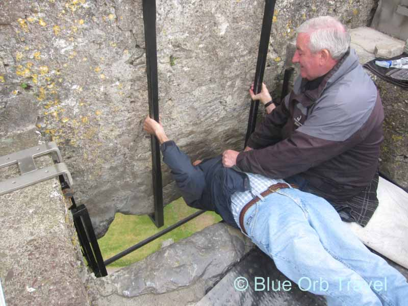 Yours Truly Kissing the Blarney Stone at Blarney Castle Near Cork, Ireland